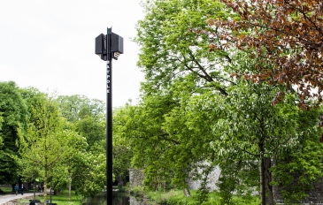 Batpole placed in city park Maastricht may 2018